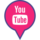 logo, media, pin, red, social, youtube icon
