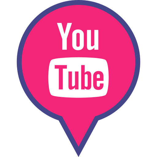 logo, media, pin, red, social, youtube icon