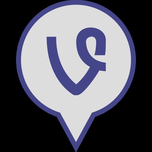 logo, media, pin, social, vine icon