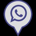 logo, media, pin, social, whatsapp icon