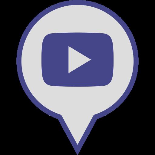 logo, media, pin, play, social, youtube icon