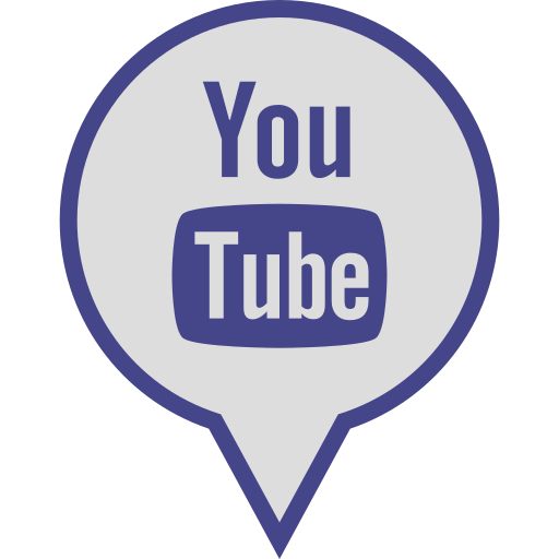 logo, media, pin, social, youtube icon