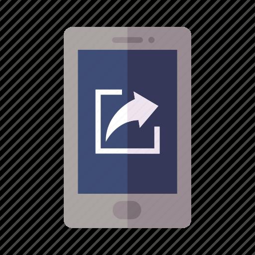 forward, mobile, share icon