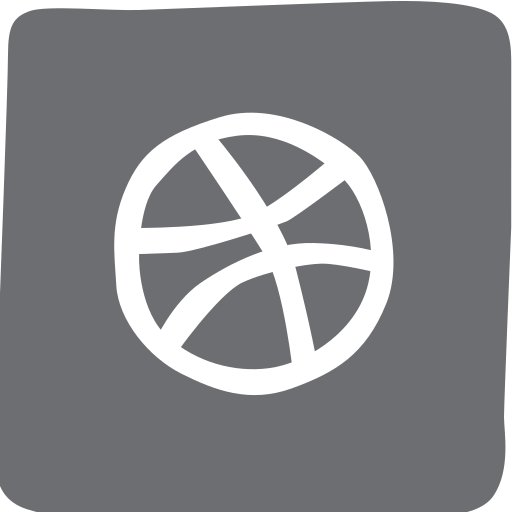 doodle, dribbble, socailmedia, social media icon