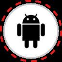 android, brand, company, logo, media, social icon