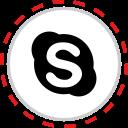 brand, company, logo, media, skype, social icon