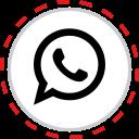 brand, company, logo, media, social, whatsapp icon