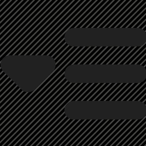 document, dropdown, file, list, menu icon