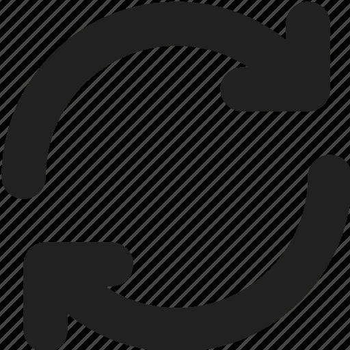 arrow, arrows, direction, flip, refresh, reload, sync icon