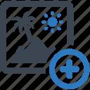 add, image, photo icon
