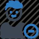 friend, remove, user icon