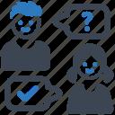 answer, conversation, question icon