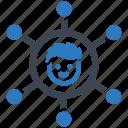 media, network, social icon