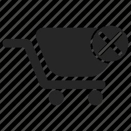 cart, close, delete, remove, shopping, strolley icon