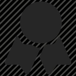 achievement, award, best, quality, ribbon icon