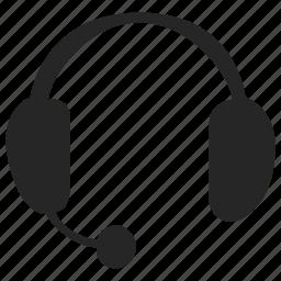 headphone, help, listen, suppot icon