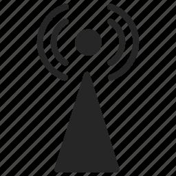 antenna, radio, signal icon