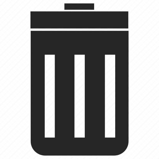 bin, can, delete, garbage, junk, rubbish, trash icon