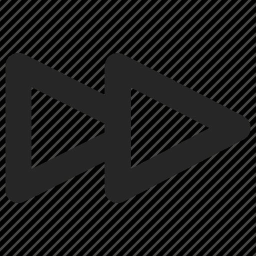 fast, forward, multimedia, player icon