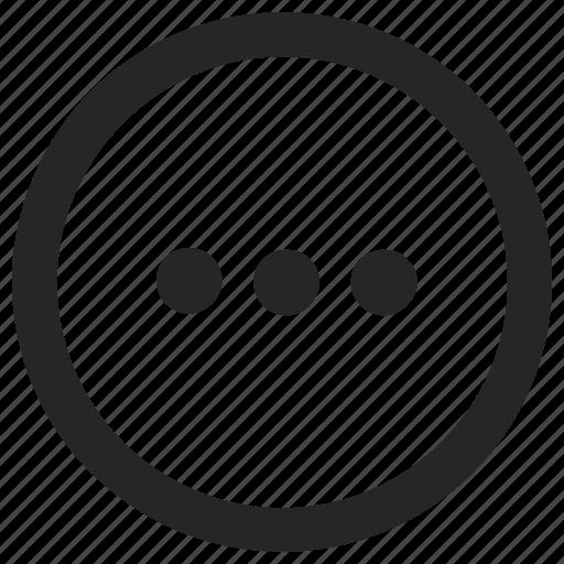 additional, calculator, dots, menu, program icon