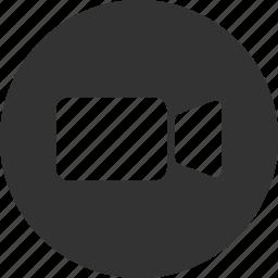 circle, movie, video, video camera icon