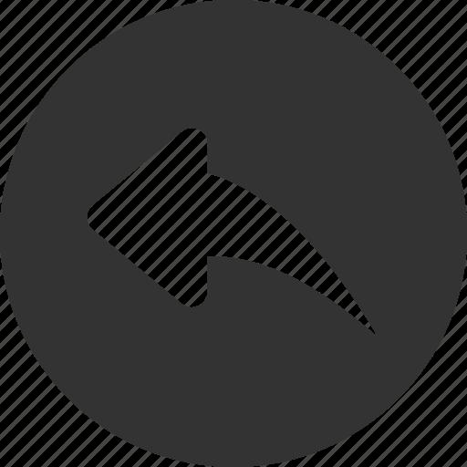 arrow, back, circle, previous, reply, respond icon