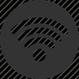 circle, internet, network, signal, wifi icon