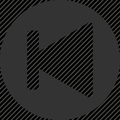 arrow, back, circle, left, previous icon