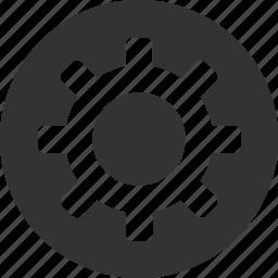 circle, cog, customize, gear, preferences icon