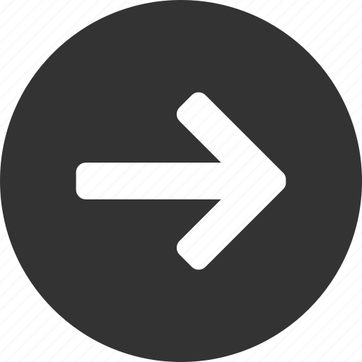 arrow, circle, east, forward, next, right icon