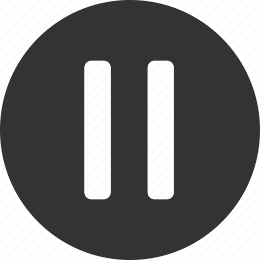 control, pause icon