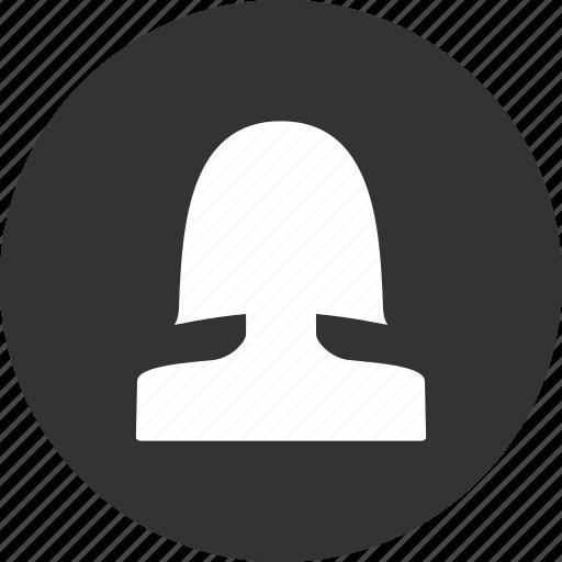account, avatar, circle, female, profile, user icon