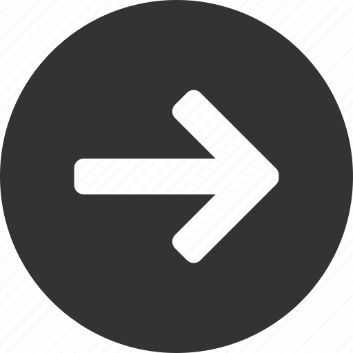 arrow, circle, east, forward, next, right icon
