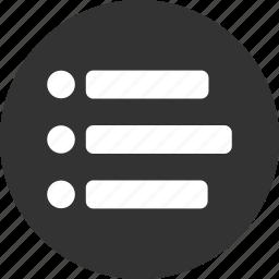 bullet, bullets, list, menu, navigation, web icon