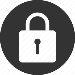circle, lock, privacy, safe, secure, security icon