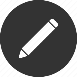 circle, compose, draw, edit, pencil, writing icon