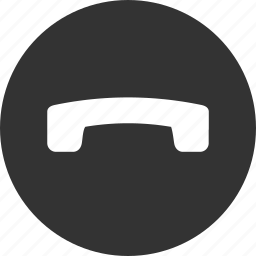 call, communication, connection, end, hang up, message, phone icon