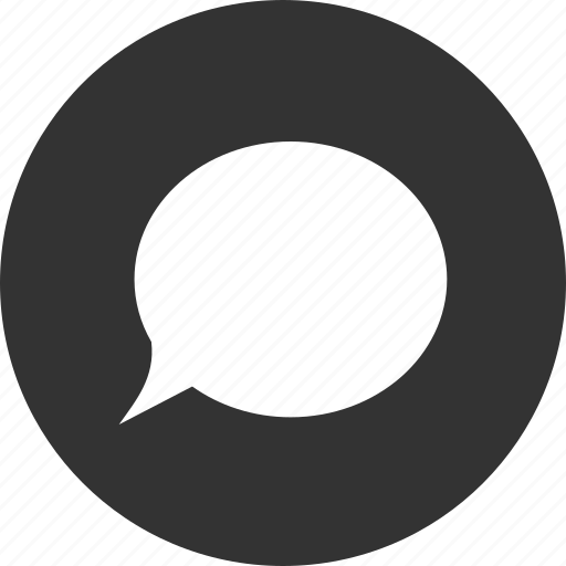 chat, chatting, circle, comment, message, talk icon