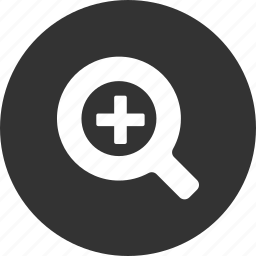 find, glass, in, magnifying, search, zoom icon