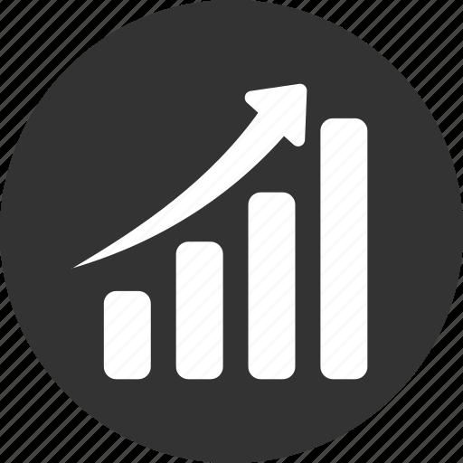 chart, circle, graph, revenue growth icon