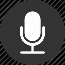 circle, mic, microphone, recording, speaker icon