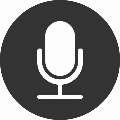 circle, mic, microphone, recording, speaker icon