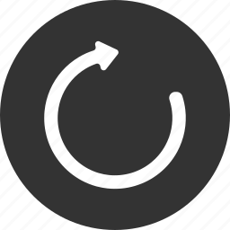 refresh, reload, repeat, restart, rotate, sync icon