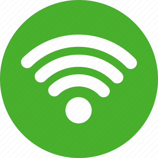 circle, green, internet, network, signal, wifi icon