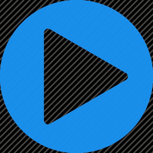 blue, circle, movie, next, play, start, video icon