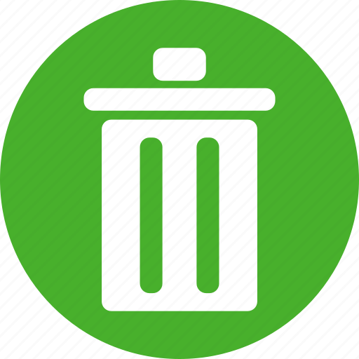 circle, delete, garbage, green, recycle, rubbish icon