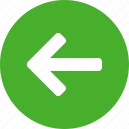 arrow, back, circle, green, left, previous, west icon