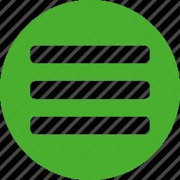 checklist, circle, feed, green, list, playlist, tasks icon