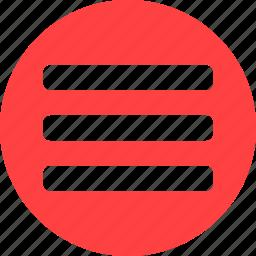 checklist, circle, feedlist, playlist, red, tasks icon