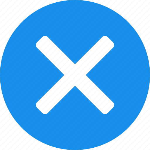 blue, cancel, close, delete, exit, stop icon